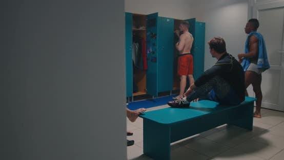 Thumbnail for Men Bullying in Locker Room
