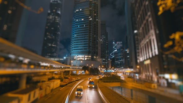 Thumbnail for Car On Road In City Night