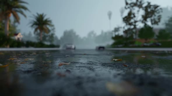 Thumbnail for Rain Asphalt Time-Lapse