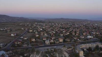 Panoramic View of Town in Cappadocia Turkey