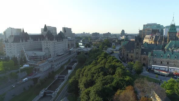 Thumbnail for Aerial view of the Rideau Canal
