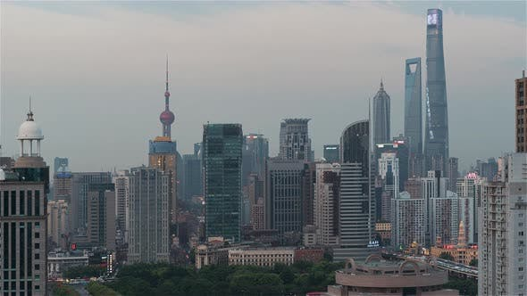 Thumbnail for Shanghai, China   Shanghai's Skyline from Day to Night