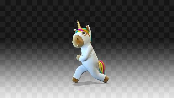 Unicorn walks happily