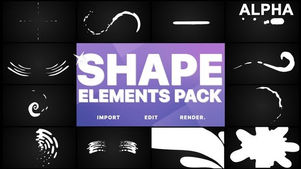 Thumbnail for Shapes Collection | Motion Graphics Pack