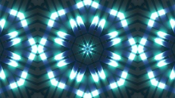 Neon Light Blue Glow Kaleidoscope V2