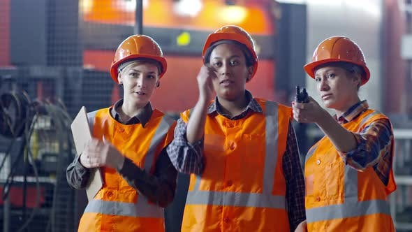 Thumbnail for Female Factory Workers Working in Team