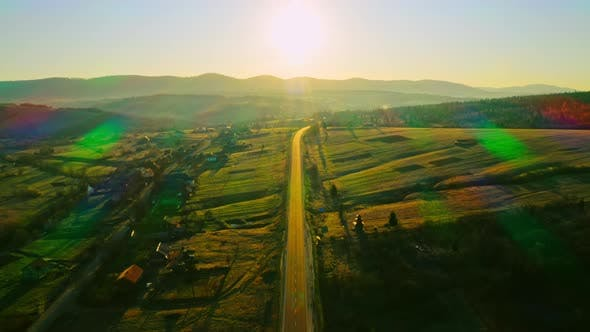 Thumbnail for Aerial View Countryside Sunup