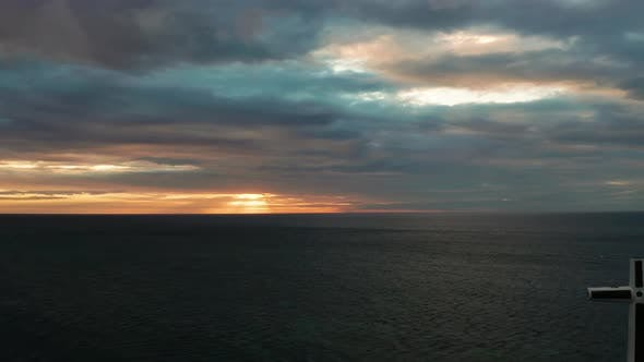 Thumbnail for Cloudy Sky Over the Sea During Sunset