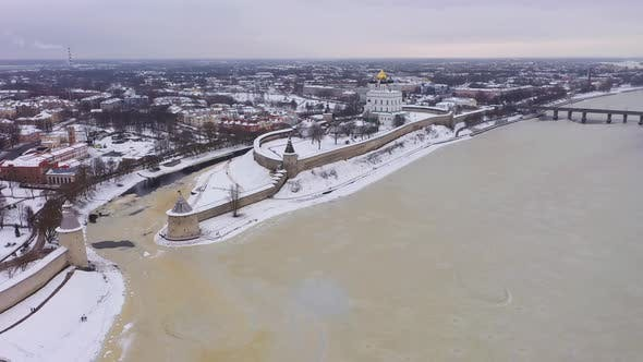 Thumbnail for Pskov City and Kremlin in Winter