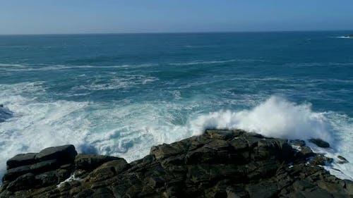 Crashing Waves on a Rocky and Dangerous Coast