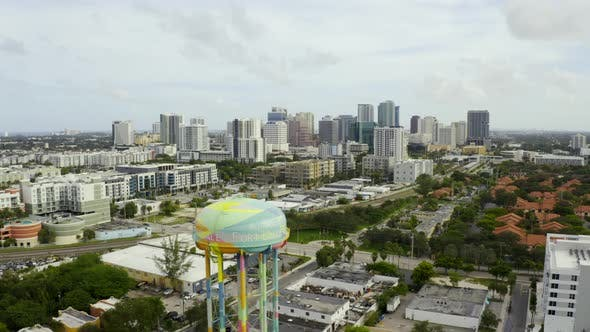 Aerial Drone Video Downtown Fort Lauderdale Fl Usa 4k