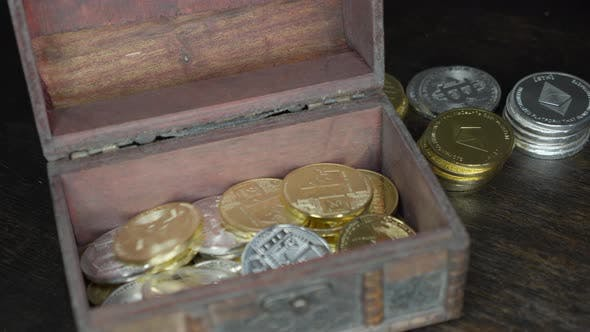 Thumbnail for Gold and Silver Coins Bitcoin