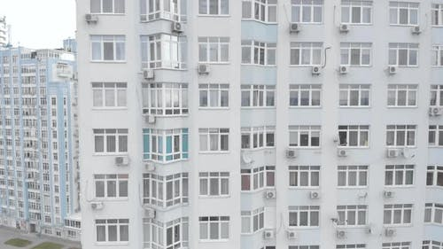 Multi-storey Residential Building in Kyiv. Ukraine. Aerial View