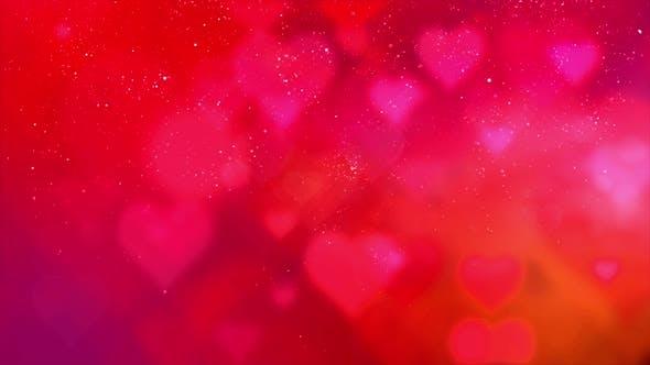 Happy Valentine Theme Particles Background 04