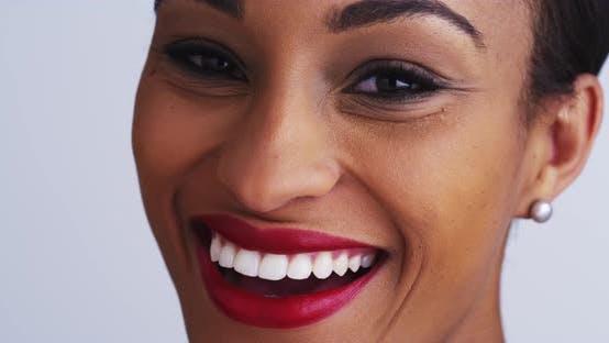 Thumbnail for Pretty black woman laughing