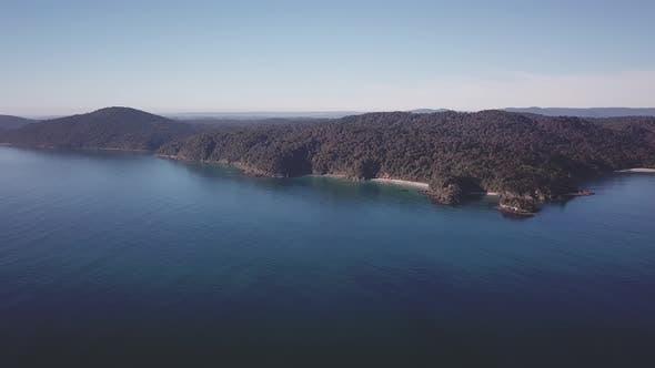 Aerial view of Steward Island