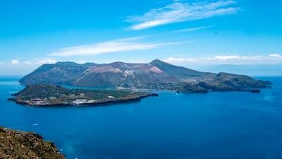 The Island of Vulcano, Aeolian islands in South Italy