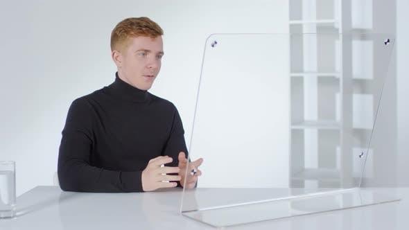Thumbnail for Caucasian Businessman Having Video Call