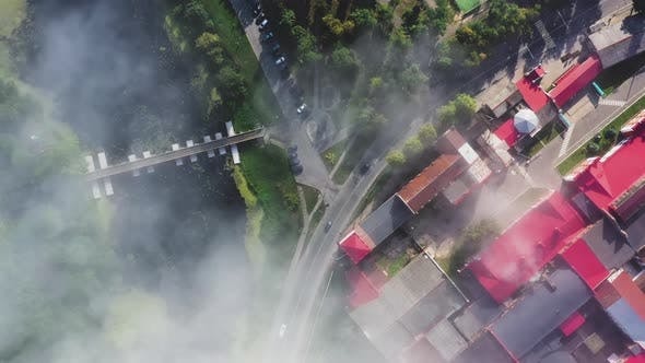 Thumbnail for Fog Over the Town in the Morning in Summer