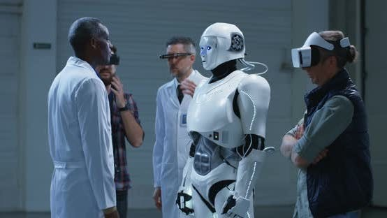 Thumbnail for Roboter nachahmt Wissenschaftler Gesten