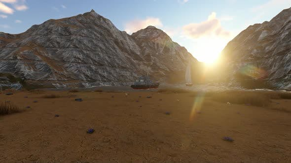 Rock mountains and sunsets