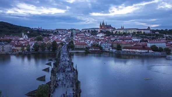 Thumbnail for View of Charles Bridge, Prague Castle, Hradcany and Vltava Rive