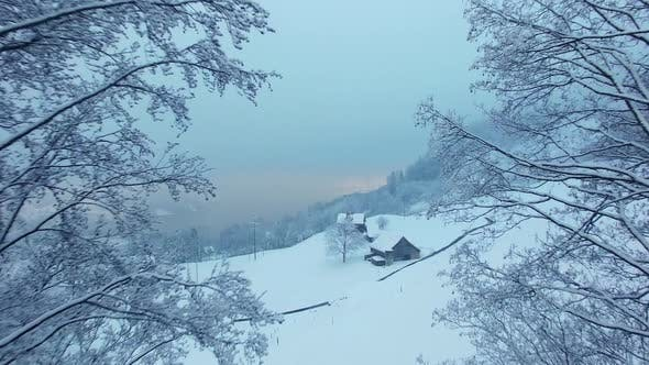 Thumbnail for Romantic Winter Wonderland Cold Snowing Christmas Season