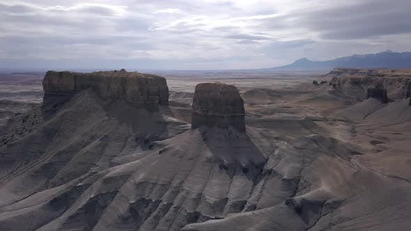 Thumbnail for Flying towards rock spires in the Utah desert