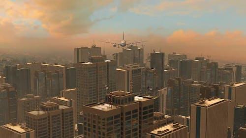 Conceptual CG animation featuring a large metropolis