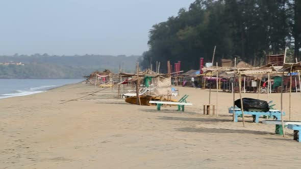 Thumbnail for View of beach and sea in Goa.