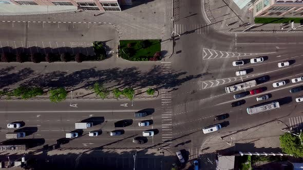 Thumbnail for Drone's Eye View - Rush Hour Traffic on City Road