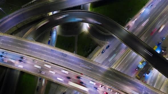 Highway Overpass Traffic Jam Timelapse