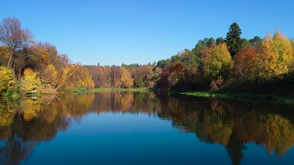 Thumbnail for Colorful Autumn Forest Wood on the Lake