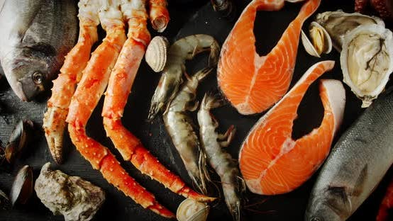 Thumbnail for Different Types of Seafood on the Table