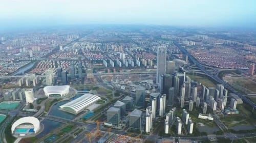 上海前滩建筑群延时Shanghai qiantan complex delay buildings city