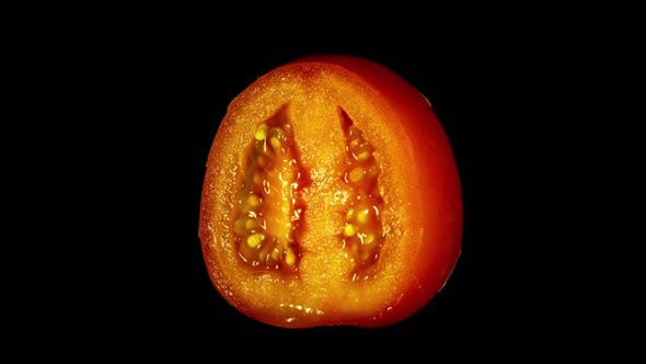 Thumbnail for Rotating Isolated Tomato Slice