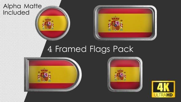 Thumbnail for Framed Spain Flag Pack