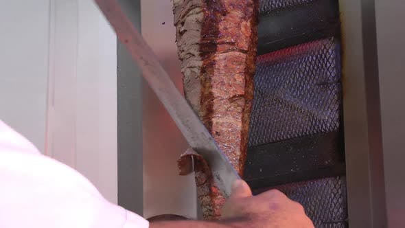 Doner Kebap Cutting