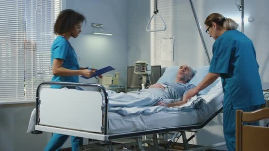 Thumbnail for Doctor Visiting Patient in Hospital