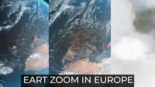 Earth Zoom In Europe