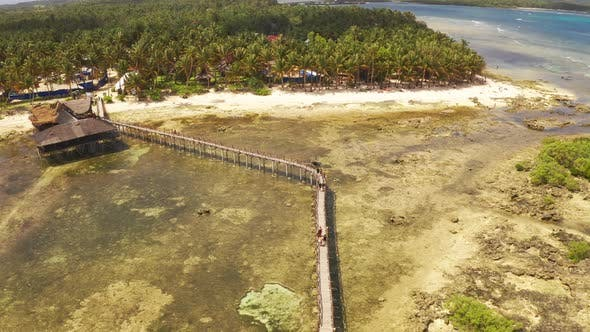 Thumbnail for People Going To the Sufr Tower at Cloud 9, Siargao, Philippines