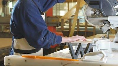 Cropped Video of Carpenter Using Circular Saw