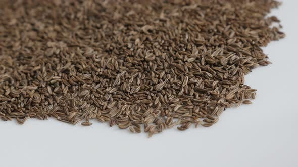 Thumbnail for Heap of meridian fennel seed  4K panning footage