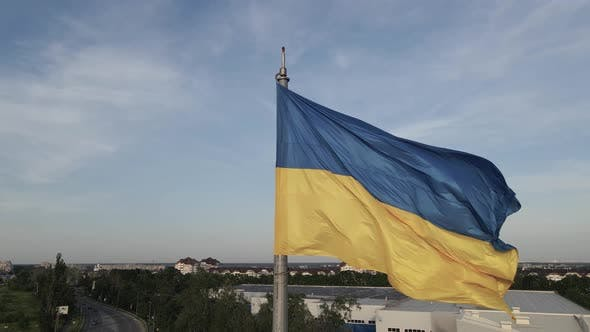 Thumbnail for Flag of Ukraine in the Wind. Kyiv.