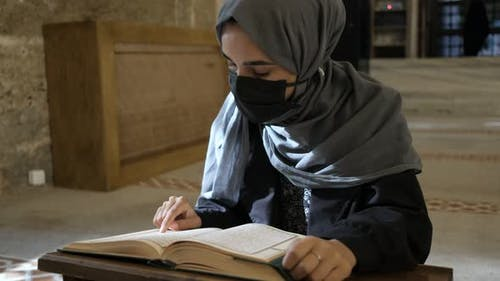 Reading Quran at Authentic Masjid