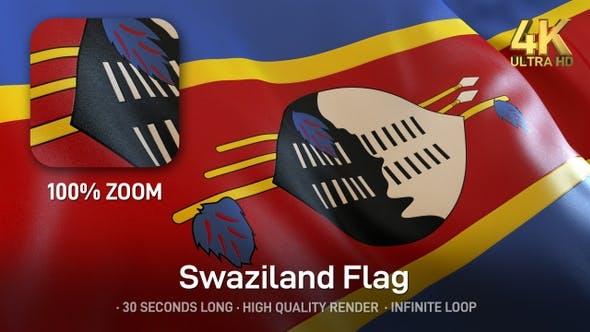 Thumbnail for Swaziland / Eswatini Flag - 4K
