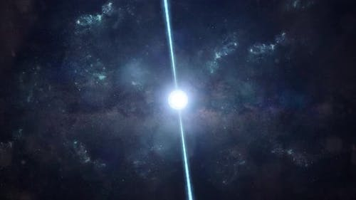 Pulsar in the Depths of Space - Fast Spinning Neutron Star