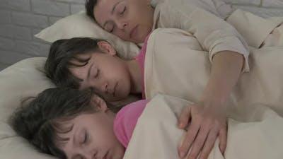 Sleep with mom.