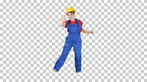 Bauarbeiterin Funny Dance, Alpha-Kanal
