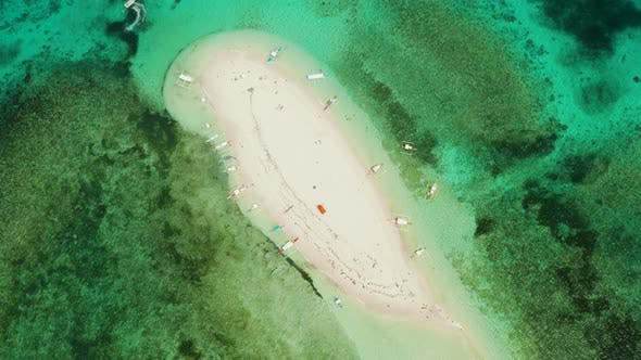 Thumbnail for Tropical Island with Sandy Beach. Naked Island, Siargao